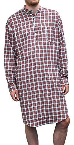 Lee Valley Genuine Irish Flannel Nightshirt, Men's (X-Large, Red/White Check)