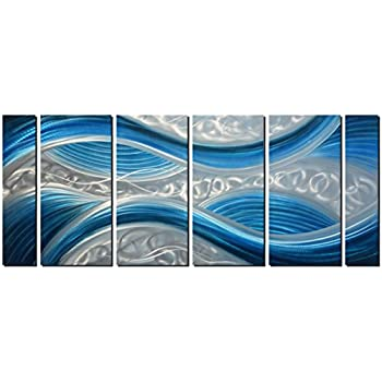 Amazon.com: Handmade Abstract Metal Wall Art with Soft Color, Large ...