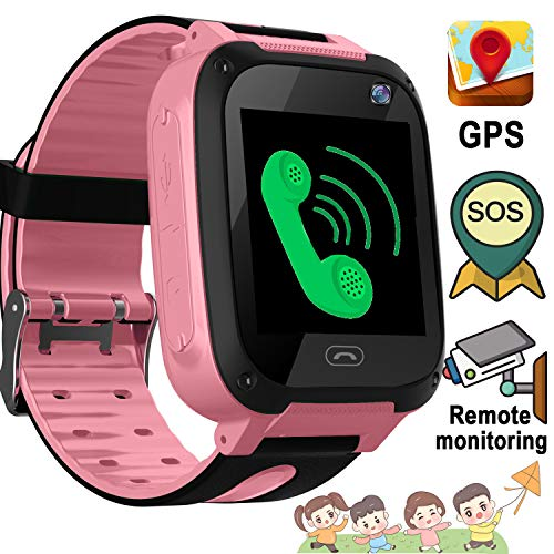 (kids Smart Watch Phone GPS Tracker SOS for Children Touch Screen Fitness Tracker Anti-Lost Camera Game Flashlight Alarm Clock Holiday Birthday Back to School Gift for 3-12 Year Old Girls Boys Children)