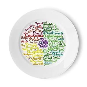Plato Vegano | Secciones fáciles de diseñar bellamente para seguir una dieta vegetariana/vegana | Plato de comida para ideas de comida y control de porciones para perder peso fácilmente