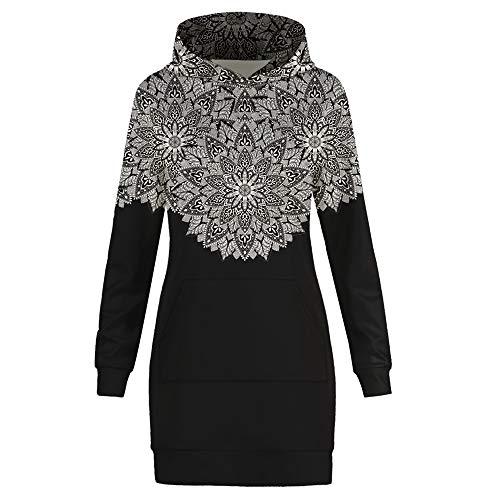 motifs Fleurs Amoma Femme Sweat shirt Noir xq7a1IX