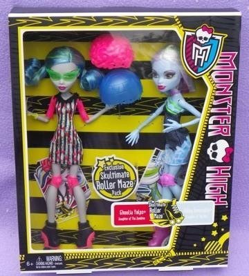 Monster High Skultimate Roller Maze Abbey Bominable & Ghoulia Yelps by Mattel (Monster High Ghoulia)