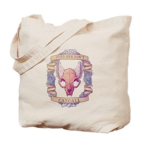 (CafePress Dead Men Don't Catcall Natural Canvas Tote Bag, Cloth Shopping)