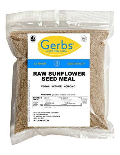 Ground Sunflower Seed Meal, 4 LBS By Gerbs – Top 12 Food Allergy Free & NON GMO – Vegan & Kosher – Premium Full Oil Content Sunflower Kernel Protein Powder For Sale