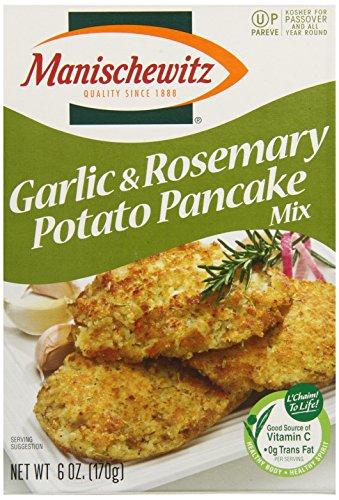 Manischewitz Potato Pancake Mix, Roasted Garlic and Rosemary, 6 Ounce