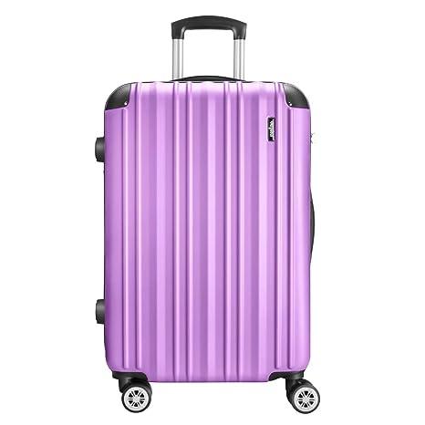 Amasava Maleta Rígida,Maleta Grande,Equipaje,Cerradura TSA,75cm,103L,4 Ruedas multidireccional,Púrpura pálido