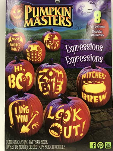Pumpkin Carving Patterns: Pumpkin Masters Expressions Book, Use for Halloween, Thanksgiving, or Anytime You Have a Pumpkin That Needs Some Extreme Carving ()