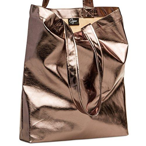 CASPAR Fashion - Bolso al hombro para mujer marrón