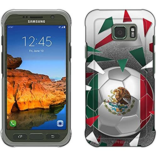 Samsung Galaxy S7 Active Case, Snap On Cover by Trek Soccer Ball Mexico Flag Slim Case Sales