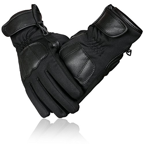 - Winter Sports Windproof/Waterproof Cycling/Ice Hockey/Skiing/Ice Skating/Snowboarding/Motorbike/Motocross Thermal Gloves with Thinsulate & Hipora Lining Warm Gloves (Small)