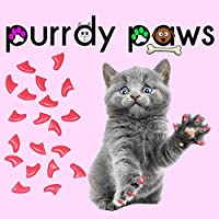 20-Pack Soft Nail Caps For Cat Claws Soft Pink MEDIUM Purrdy Paws Brand