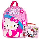 """Hello Kitty Preschool Backpack Toddler (11"""") with Hello Kitty Lunch Box Snack Tin"""