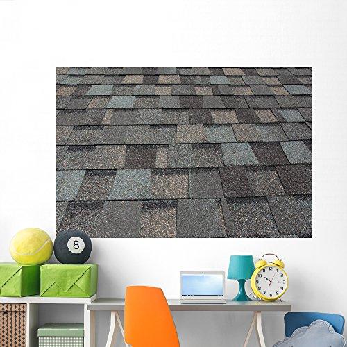Wallmonkeys Wm143570 Asphalt Roofing Shingles Peel And Stick Wall Decals  72 In W X 48 In H
