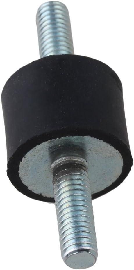 30x15mm Schwarz und Silber Doppelendschraube Silentblock f/ür Kompressor Packung von 5 St/ück