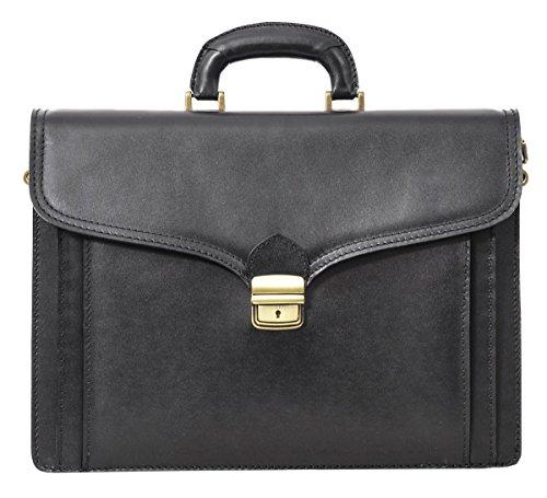 borsa per portatile Gusti Leder studio Owen ventiquattrore business computer Made in Italy elegante nero 2B2-50-1