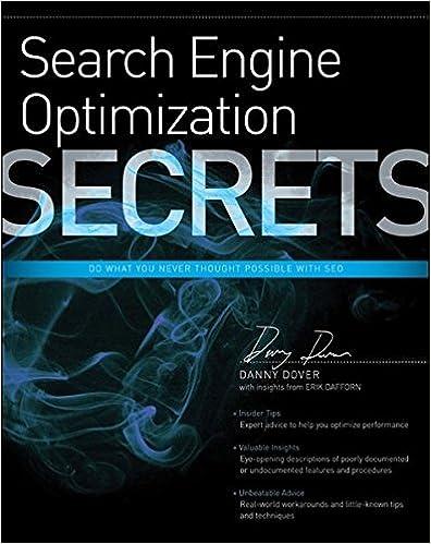 Search Engine Optimization (SEO) Secrets: Danny Dover, Erik Dafforn: 9780470554180: Amazon.com: Books