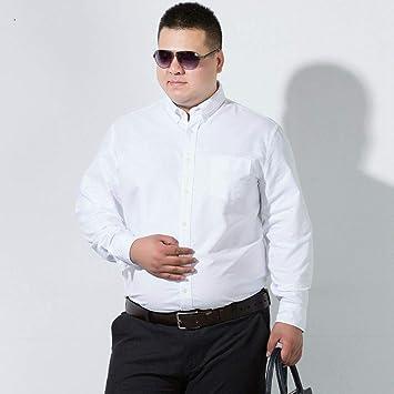 WYTX Camisas Camisa De Manga Larga Plus Fat XL para Hombre Camisa ...