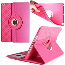 iPad Pro 9.7 inch Case,TechCode 360 Degrees Rotating Magnetic Stand Smart Screen Protective Case Cover for Apple iPad Pro 9.7 inch Tablet (iPad Pro 9.7, Hot Pink)