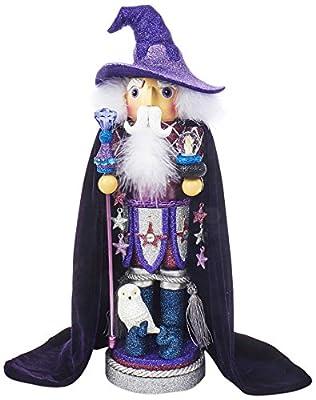 "Kurt S. Adler 18"" Hollywood Purple Wizard Nutcracker"