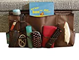 Smilesun Bedside Storage Organizer Sofa Storage Organizer Table Cabinet Storage Organizer for Tablet Magazine Phone Remotes - All Within Arms Reach (X-Large 10 Pockets)