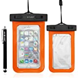 "Eco-Fused Premium Universal Waterproof Carrying Case - IPX8 Certified - Protects Against Water and Dirt - Up to 4.7"" Screen Size - Iphone SE, 6S, 6, 5s, 5 - Samsung Galaxy S7, edge, S6, edge, S5, S4 and Many More"