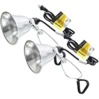 Simple Deluxe 2-Pack Clamp Lamp Light with 5.5 inch Aluminum Reflector up to 60 Watt E26 (No Bulb Included) 6 Feet 18/2 SPT-2 Cord UL Listed