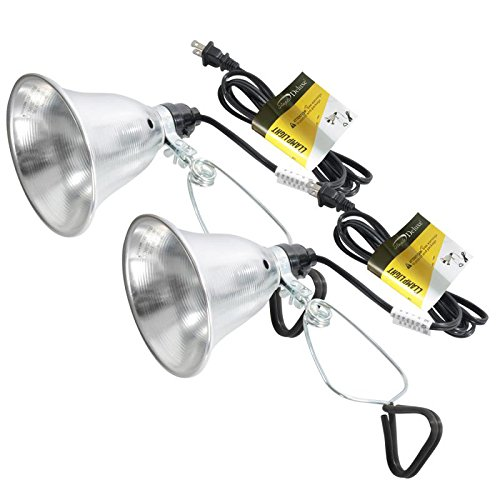 Simple Deluxe HIWKLTCLAMPLIGHTSX2 2-Pack Clamp Lamp Light with 5.5 Inch Aluminum Reflector up to 60 Watt E26 (no Bulb Included) 6 Feet 18/2 SPT-2 Cord UL Listed