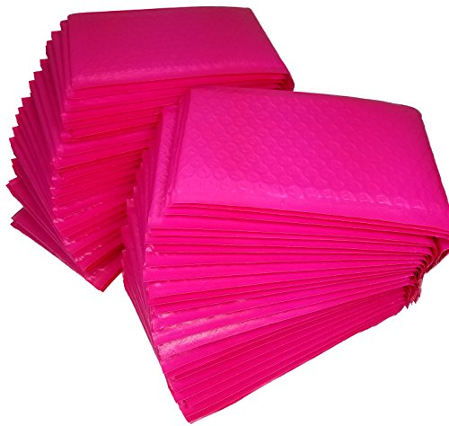 50 Pack Self Adhesive (Pink Bubble Mailers #0, Pack of 50, 6 x 10 Self Adhesive, lightweight and durable)