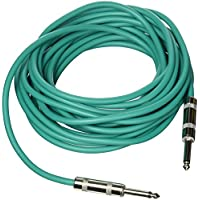Seismic Audio SASTSX-25Green-6PK 25-Feet TS 1/4-Inch Guitar, Instrument, or Patch Cable, Green
