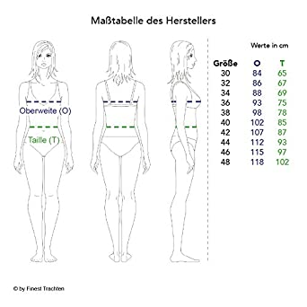 Almsach Damen Trachten-Mode Best-Price Midi Dirndl Bine in Dunkelblau traditionell