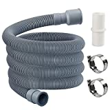 MyLifeUNIT Washing Machine Drain Hose, Washer Drain Hose Extension Kit with 1 Extension