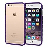 iPhone 6s Plus Case, rooCASE iPhone 6 Plus Slim Fit Bumper (Open Back Design) with Corner Edge Protection [Chain Bumper] Case Cover for Apple iPhone 6 Plus / 6s Plus (2015), Purple