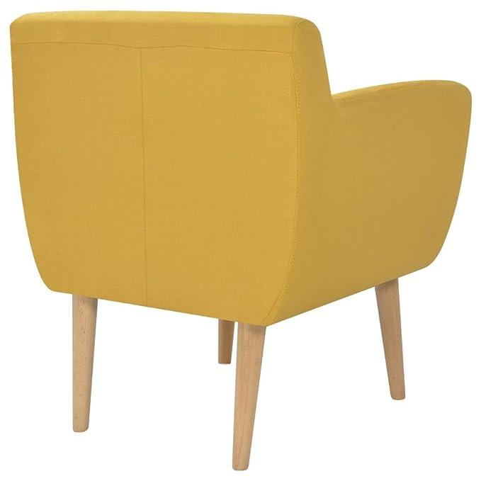 Festnight Sillón Color de Amarillo Material de Tela y Madera ...