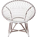 Inspired by David Francis Marrakesh Lounge Chair, White