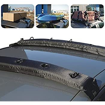 KKmoon 2Pcs Inflatable Universal Roof Top Rack And Luggage Carrier For Car  Kayak Roof Top Cargo