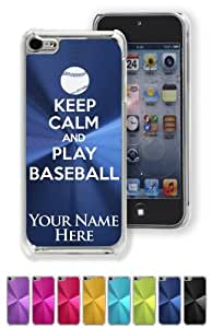 Case/Cover for iPhone 5C - KEEP CALM AND PLAY BASEBALL - Personalized for FREE (Click the CONTACT SELLER link after purchase and send a message with your case color and engraving request)