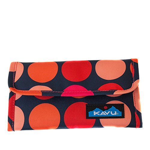 KAVU Mondo Spender Tri-Fold Wallet with Snap Closure - Fire Ball