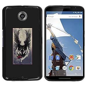 Paccase / SLIM PC / Aliminium Casa Carcasa Funda Case Cover - Angel Grey Hound Dog Romantic - Motorola NEXUS 6 / X / Moto X Pro