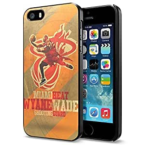 Basketball NBA Dwyane Wade 3 Miami Heat , Cool iPhone 5 5s Smartphone Case Cover Collector iphone Black by runtopwell