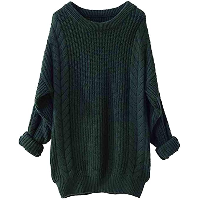 Gallity Women s Casual Crew Neck Knit Sweater Oversized Loose Casual  Pullover Sweater Cardigan (US Size 55ef2c41c