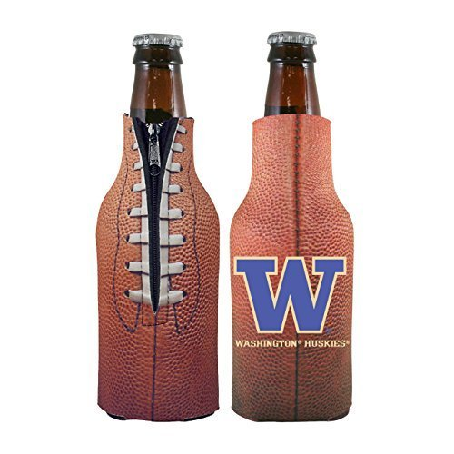 Washington Huskies Tailgate Cooler (NCAA College 2014 Team Logo Football Look Bottle Coolie Holder Koozie Cooler 2-Pack (Washington Huskies))