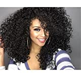 Cool2day Afro Kinky Wig Cheap Synthetic Long Kinky Curly Wigs For Black Women