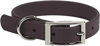 product image for Mendota Pet Durasoft Imitation Leather Collar - Standard Collar - Made in The USA - Waterproof, Odor Resistant - Brown, 3/4 in x 12 in (Narrow)