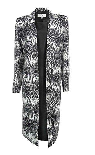 Le Suit Women's Caribbean Blue Dupioni Dress Suit (14, Black/White)