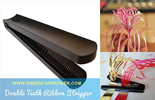 Ribbon Shredder Curler with Stainless Steel Blade Teeth for Laminated and Metallic Ribbons (Double)- RSPAC (TM) - Gift Wrapping Tool - Ribbon Blade