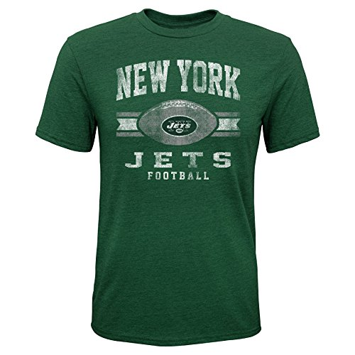 Outerstuff NFL NFL New York Jets Youth Boys Player Pride Short Sleeve Tri-Blend Tee Hunter Green, Youth Large(14-16) -