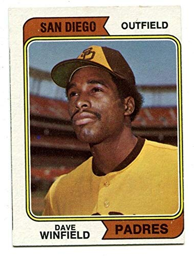 Dave Winfield 1974 Topps #456 RC Rookie Padres Ex - Memorabilia Dave Winfield