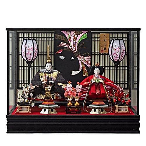 雛人形 ケース飾り ひな人形 月結 三五 親王飾り 153-217   B004JKWO92
