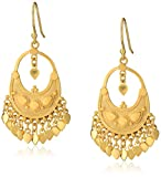 Satya Jewelry Classics Gold-Plated Petal Chandelier Earrings