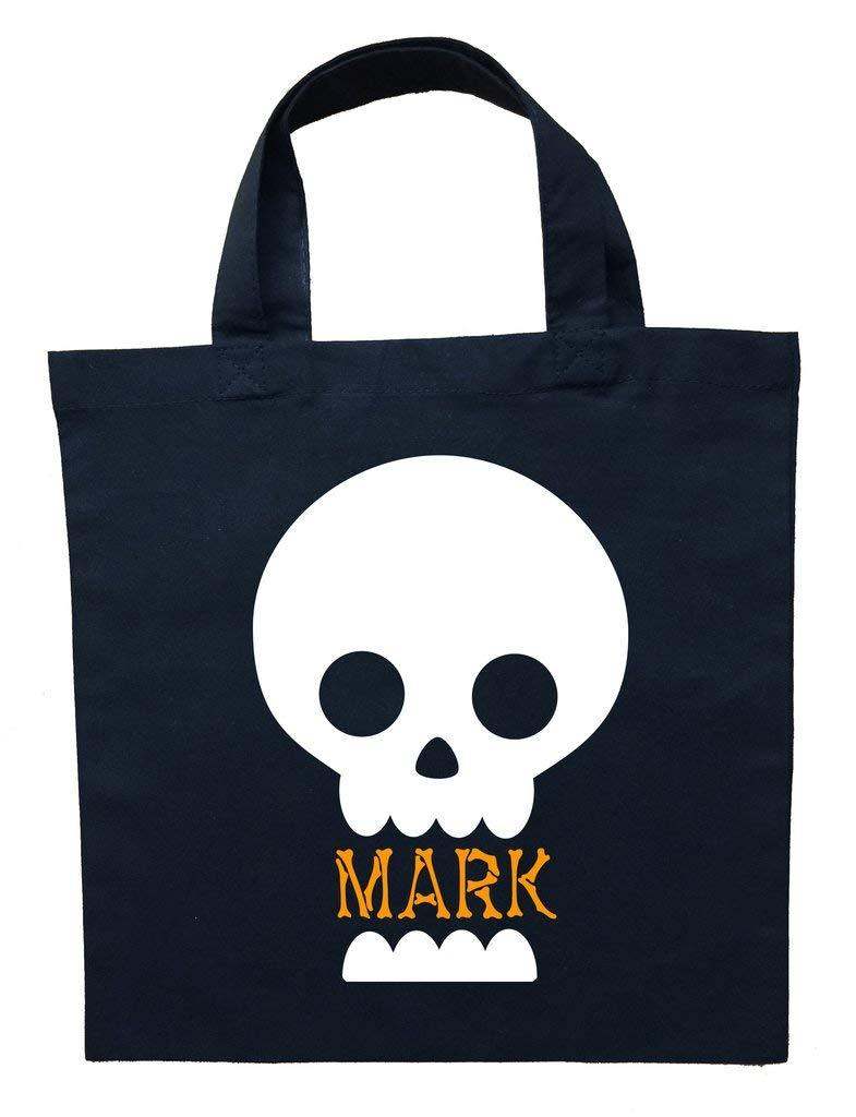 Skeleton Trick or Treat Bag, Personalized Skeleton Halloween Bag, Skeleton Loot Bag